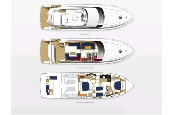Princess 58 - 2008 - full layout