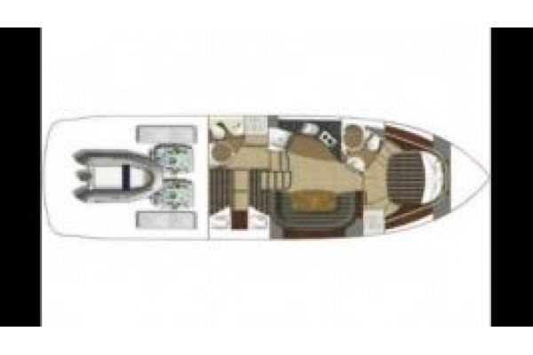 Fairline Targa 47 Hardtop - 2008 - layout