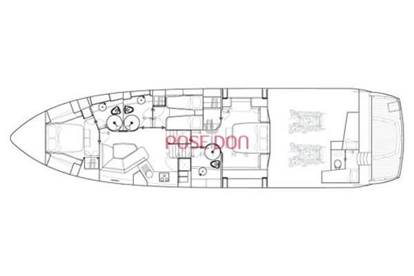 Sunseeker Predator 72 - 2008 - layout