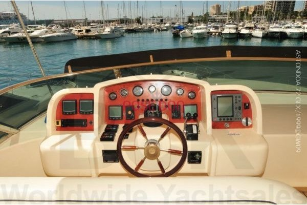 Astondoa 72 - 1999 - flybridge helm position