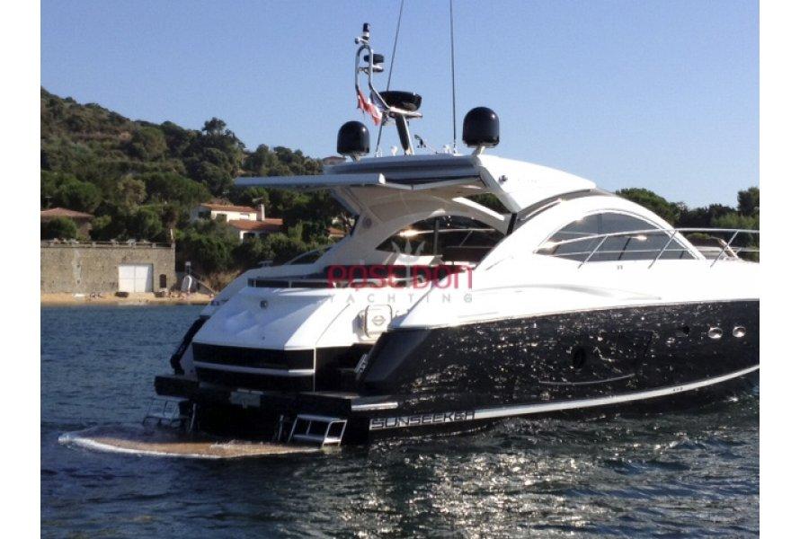 Sunseeker Portofino 48 - 2010 - hydraulic platforme view